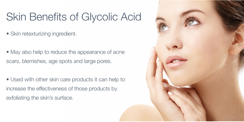 Additionally, using glycolic acid with other skincare products can help to increase the effectiveness of those products by exfoliating the skin's surface,